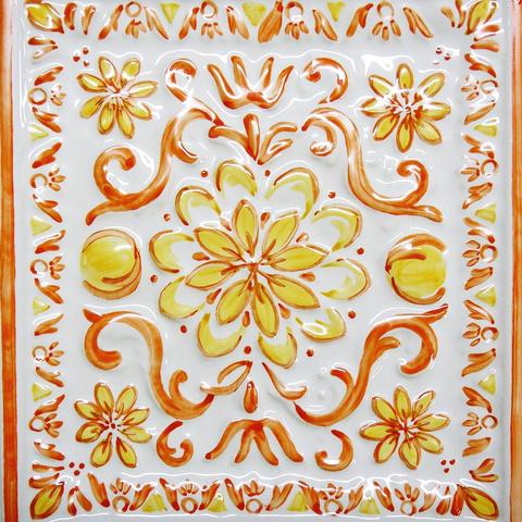Bild: K 221 · Glasur 1048 orange/gelb dekoriert