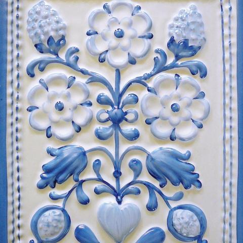 Bild: K 223 · Glasur 802 blau dekoriert