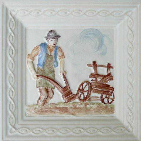 Bild: K 600 · Glasur 510 Bauernmotiv bunt dekoriert