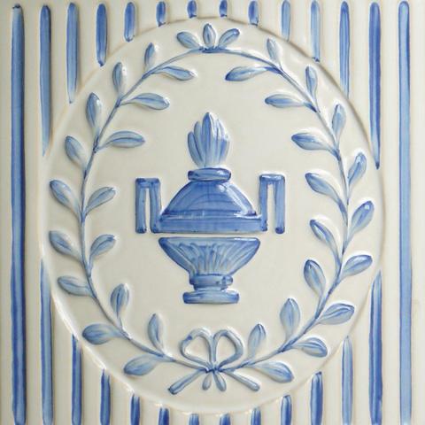 Bild: K 58 »Vase« · Glasur 1040 blau dekoriert