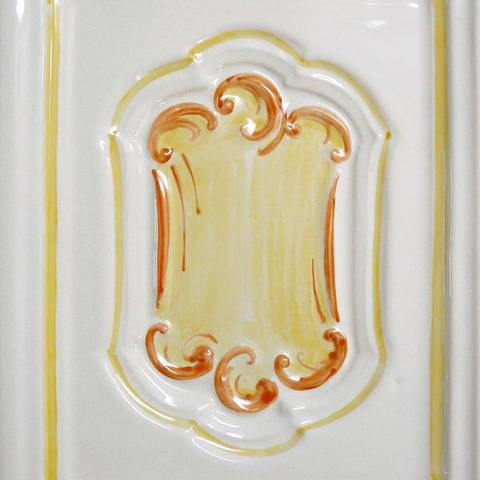 Bild: K 228 · Glasur 1040 orange dekoriert