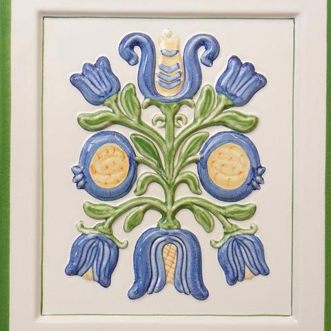 Bild: K 635 »Treviso« · Glasur 1040 bunt dekoriert und gerändert