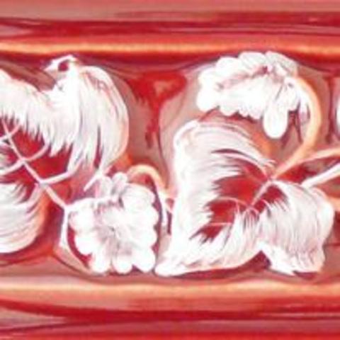 Bild: ZL 2 Glasur 1044 weiß dekoriert