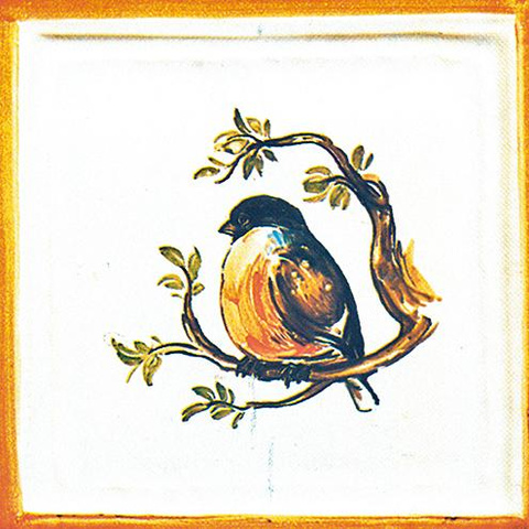 Bild: K 408/T1 · Glaze 1040 »bullfinch« motif, painted in colour