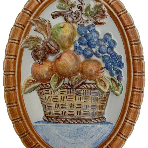 Bild: Motiv »Obstkorb« 26 x 37 cm bunt dekoriert