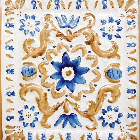 Bild: K 221 · Glasur 911 blau/braun dekoriert